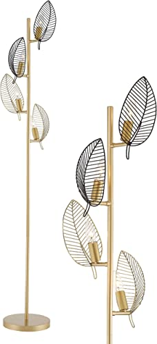 WOXXX Industrial Gold Floor Lamp
