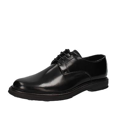 SALVO FERDI Chaussures de Ville à Lacets pour Homme - Noir - Noir, 43 EU EU