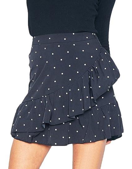 Mujer Faldas Verano Cortas Elegantes Vintage Classic Lunares ...
