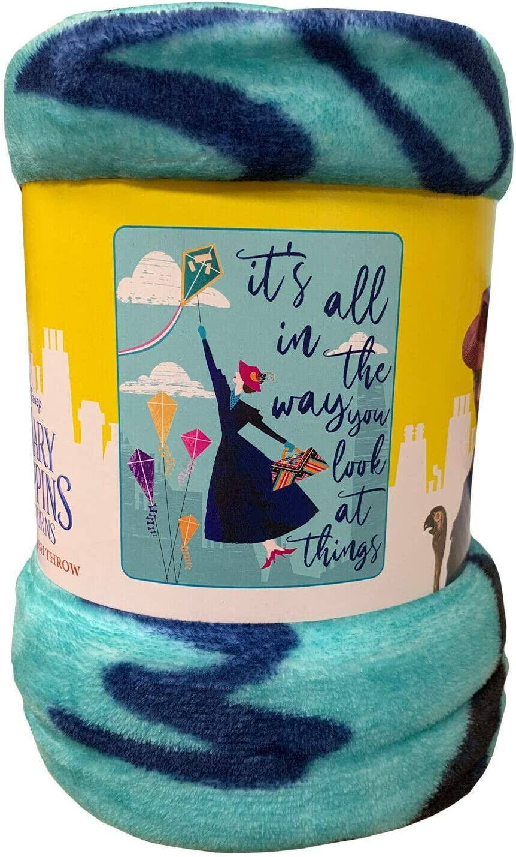 "Northwest Mary Poppins Throw Blanket Warm Soft 46"" x 60'' Super Nanni"