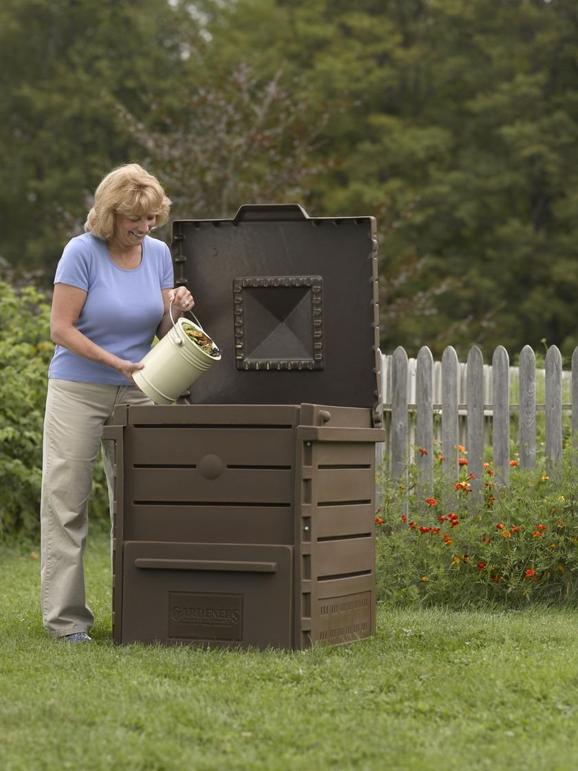 Deluxe Pyramid Composter, Recycled Plastic Composter by Gardener's Supply Company (Image #3)