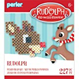 Perler Beads 80-72259 The Red-Nosed Reindeer Fused Bead Activity Kit, Rudolph