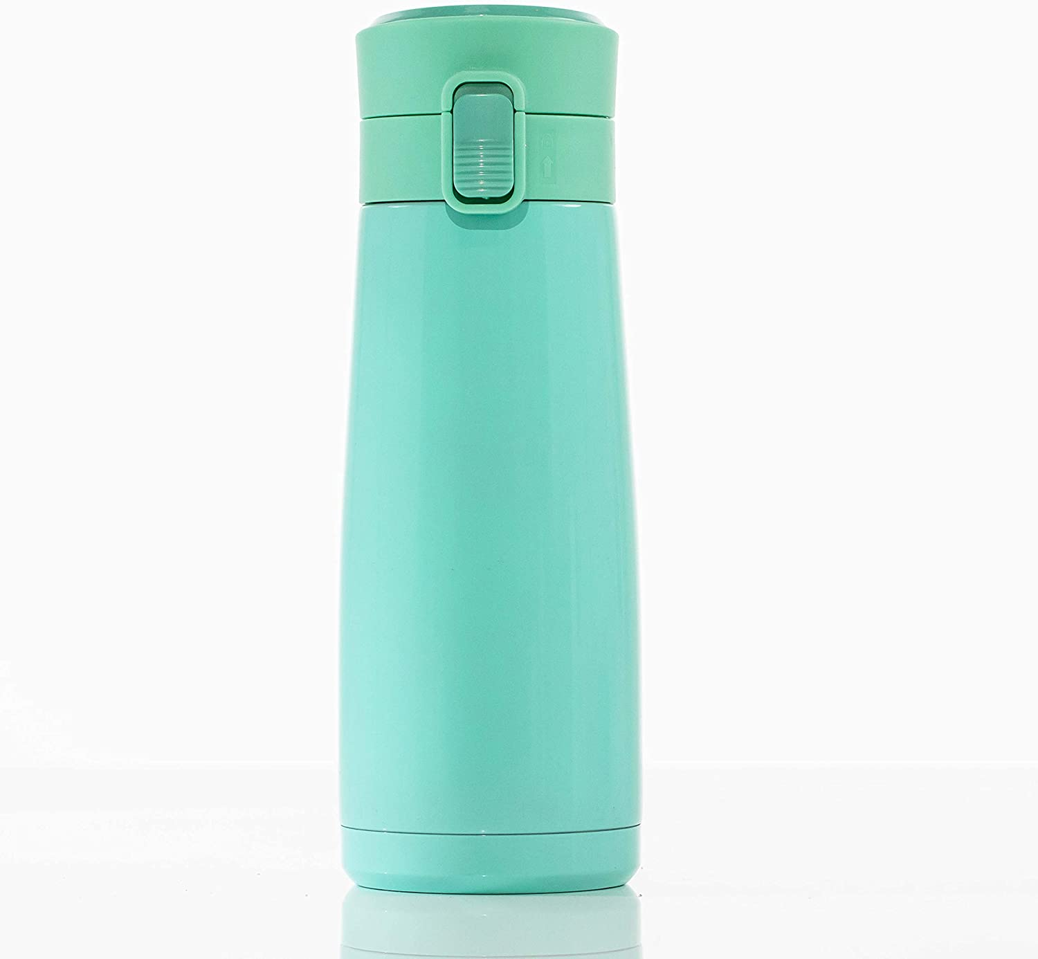 LOCK & LOCK Ceramic Lined Stainless Steel Bottle Double Wall Vacuum Insulated BPA-Free Non Toxic Travel Mug for Cold Drinks and Hot Beverages, 15 ounces, Green
