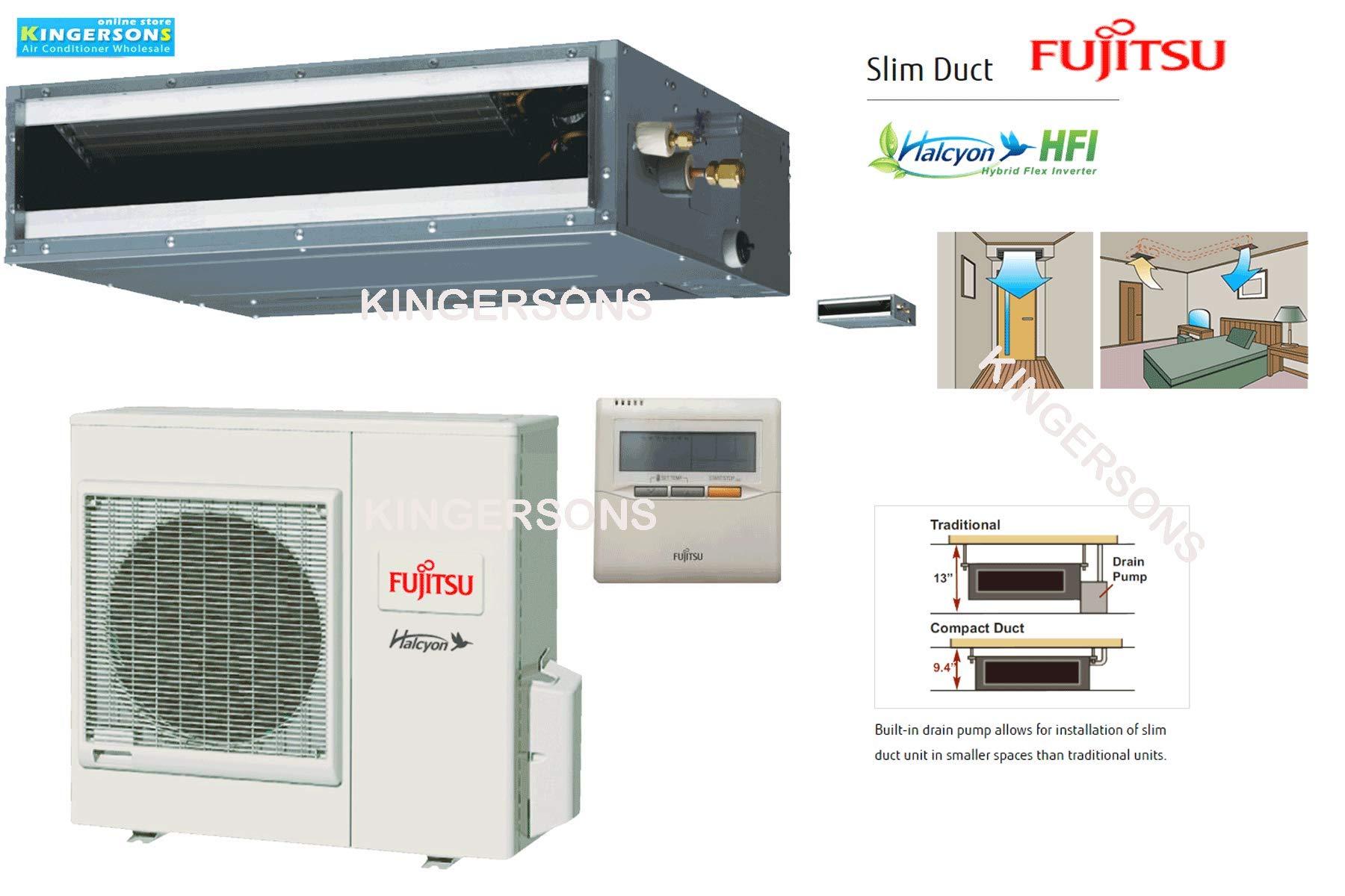 Fujitsu 1 Ton 12000 Btu Cooling Heating Ductless Slim