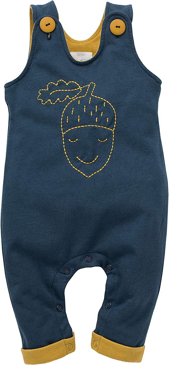 Secret Forest Bimbo Bimba Ragazzi Bambini Unisex Tute Pagliaccetto Salopette Blu Scuro 100/% Cotone Pantaloni con Bretelle Unisex 62 68 74 80 86 cm Pinokio