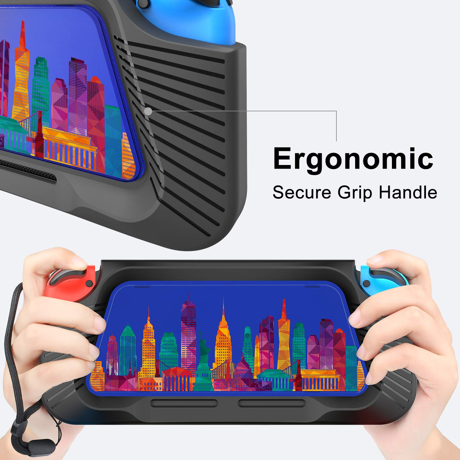 Nintendo Switch Case, Heavy Duty Cover Case for Nintendo Switch with Shock-Absorption and Anti-Scratch (Blue)