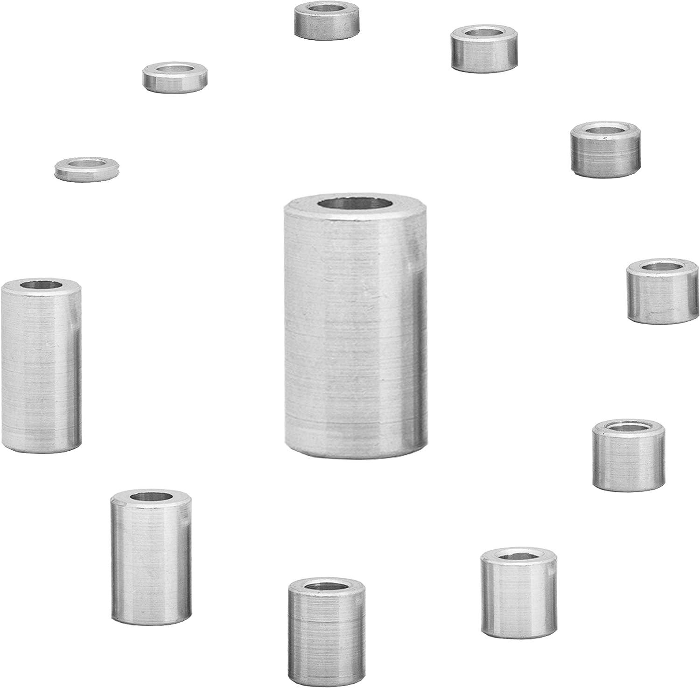 FASTON Aluminium Distanzh/ülsen M6 /Ø innen 6,5 mm 4 St/ück Rohrbuchse H/ülsen Abstandsh/ülsen Distanzbuchsen Abstandsbuchsen Schildhalter /Ø Au/ßen 10 mm L/änge 3 mm