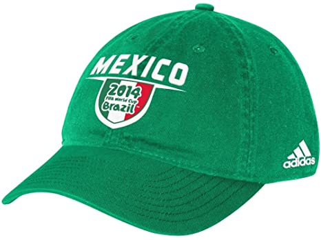 45cbb9df81f Image Unavailable. Image not available for. Color  Mexico Adidas 2014 FIFA  World Cup Adjustable Slouch Hat