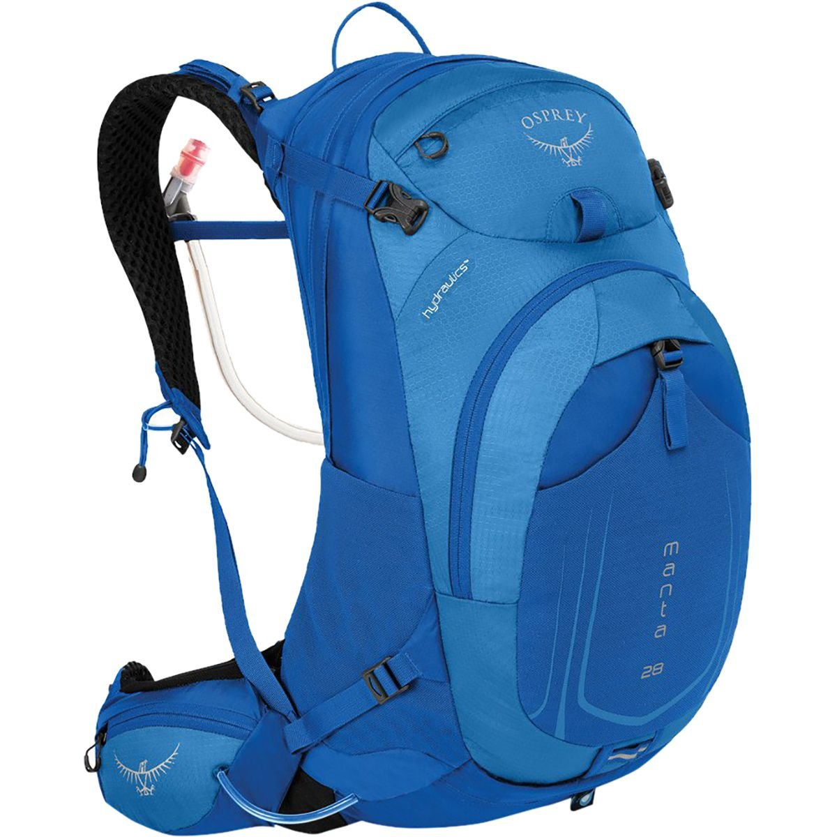 Osprey Packs Manta AG 28 Hydration Pack, Sonic Blue, Small/Medium