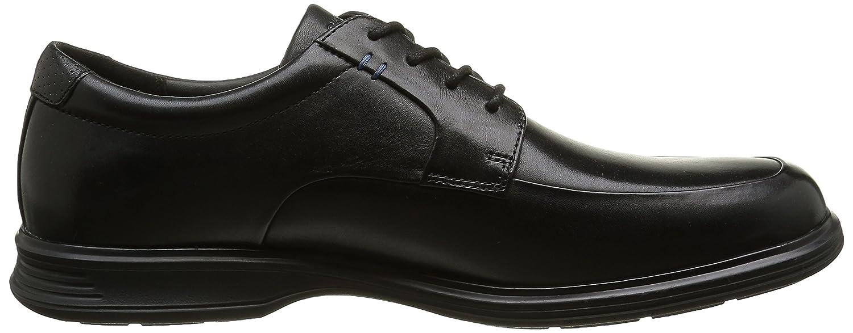 Rockport Essential Details II Apron Toe - Zapatos Planos con Cordones Hombre, Negro (Black Leather), 41
