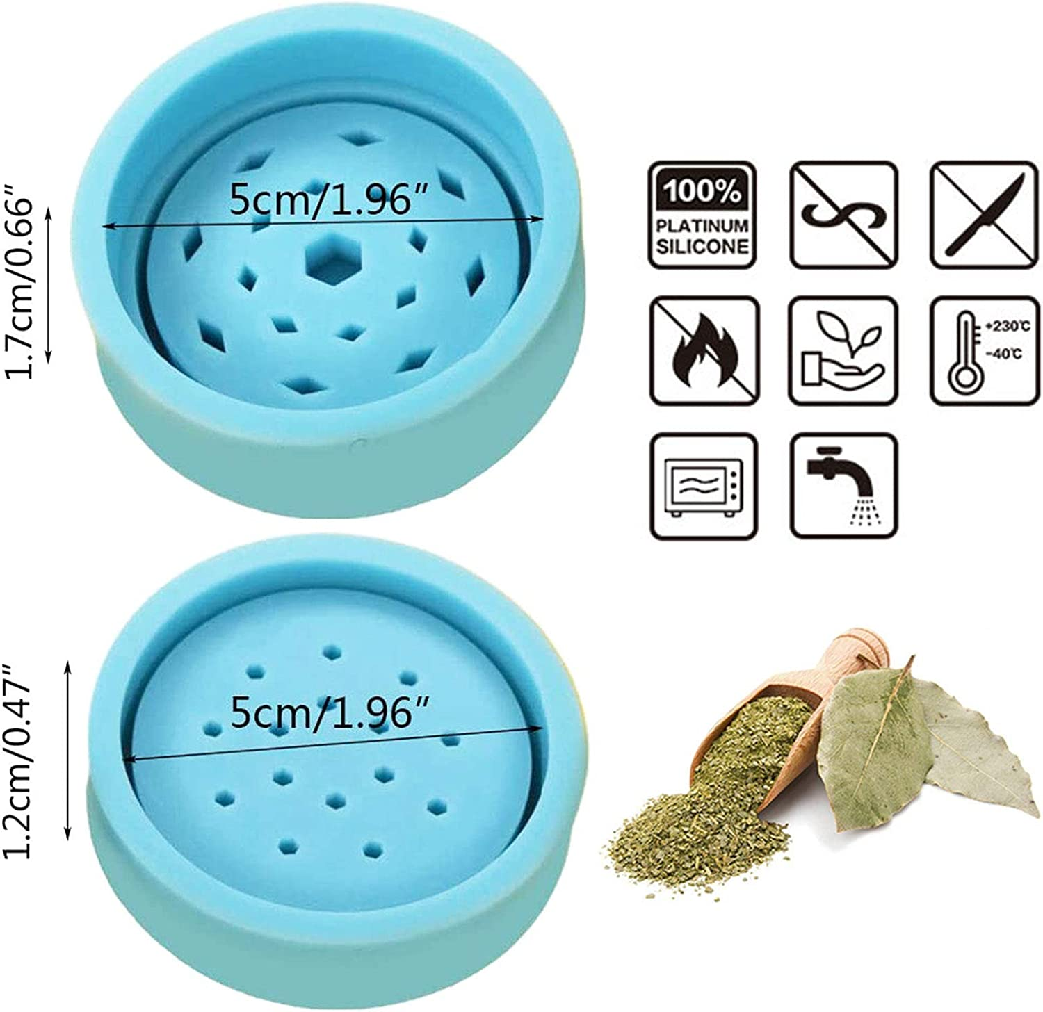 Silicone Epoxy Resin Mold DIY Leaf Herbal Herb Grinder Spice Crusher Mould Tools