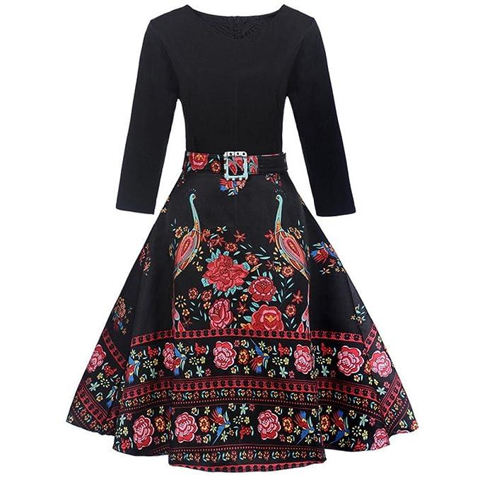 sale retailer 1691b 65016 Odejoy Casual Vestiti Floreali Donna Estivi/Autunnali ...