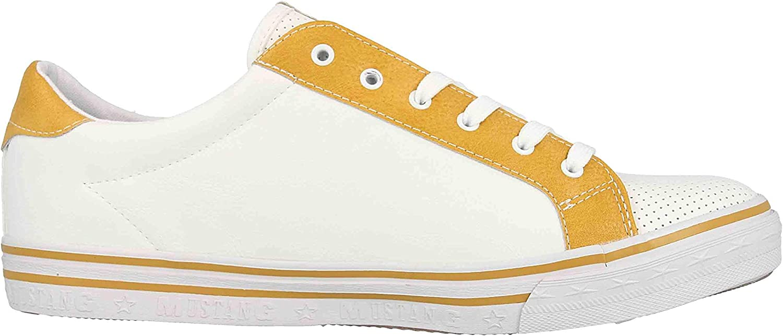 Mustang 1354-302-16, Sneakers Basses Femme Blanc et Jaune