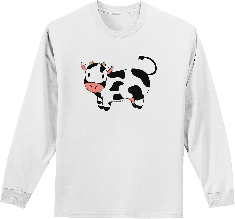 TooLoud Cute Cow Dark Adult Night Shirt Dress