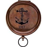 Kartique Antique Style Pocket Compass Push Button in Brass
