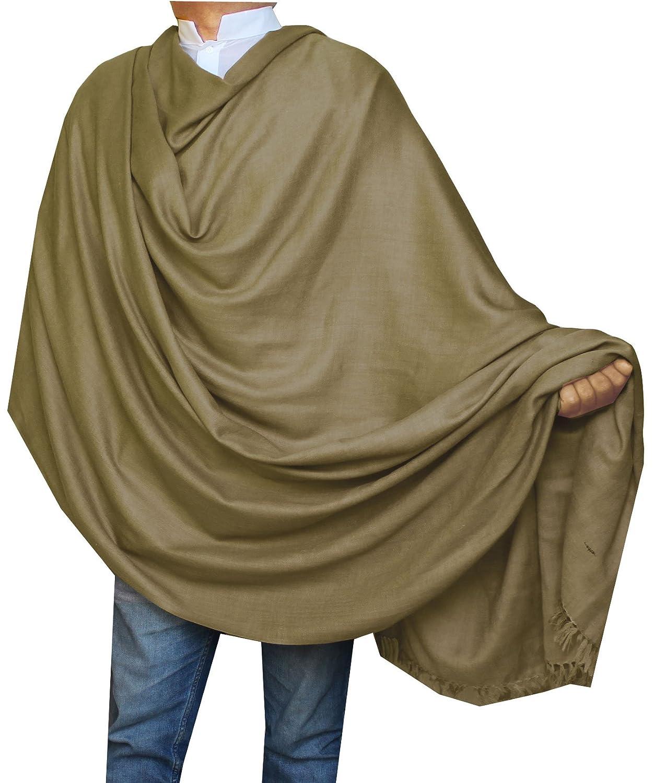 Large Prayer Shawl Pure Wool Wrap Mens Womens India Clothing (Grey) Maple Clothing plnloi14-dgry7