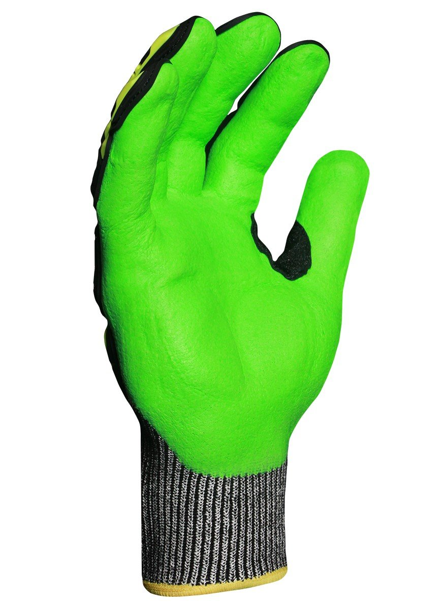 Ironclad Kong INDI-KC5G-02-S Industrial Impact Knit Cut 5 Grip Oil & Gas Safety Gloves, Small by Ironclad (Image #2)