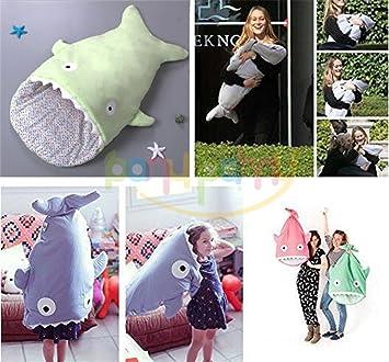 Saco para bebé, para dormir, para usar en el carrito o silla de paseo o como cambiador de pañales, diseño de tiburón: Amazon.es: Hogar