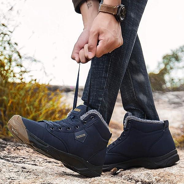 9316899305da78 [Visionreast] 24.5-28cm スノーブーツ メンズ レーディス 防水 防寒靴 スノーシューズ 防滑