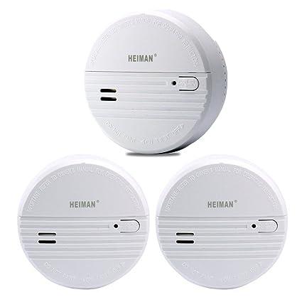 heiman 3 años Detector de humo (con indicador LED y fotoelektrischen Sensor – Blanco –