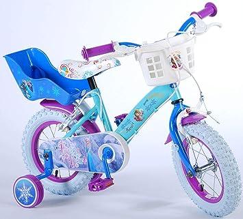 Disney Bicicleta Niña Frozen 12 Pulgadas Frenos al Manillar Ruedas ...