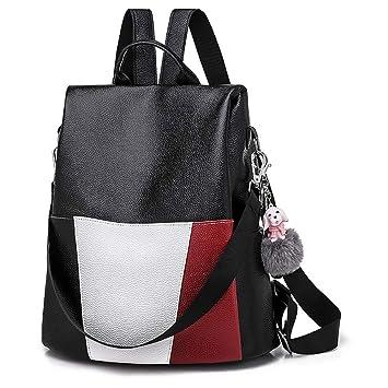 Bolsos Mochilas Mujer Casual de Piel Lindo Bolsos Bandolera de Chicas y Niñas Simple para Diario y Viaje Messenger Bag Backpack de Estilo Colegio Bolsos ...