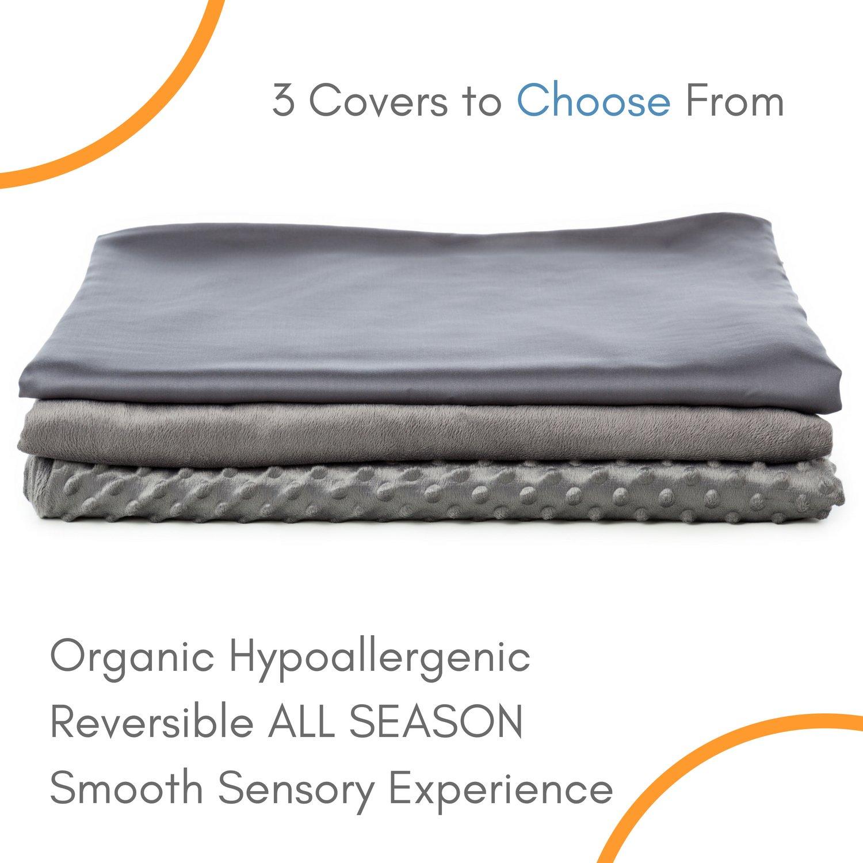 Snuggle Pro Luxury Minky Dot Duvet Cover for Weighted Blanket - 48''x72'' Twin Size/Full Bed Velvet Plush Weighted Blanket Cover by Snuggle Pro (Image #2)