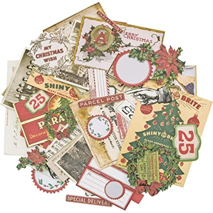 tim holtz idea ology christmas ephemera pack 2017 69 pieces