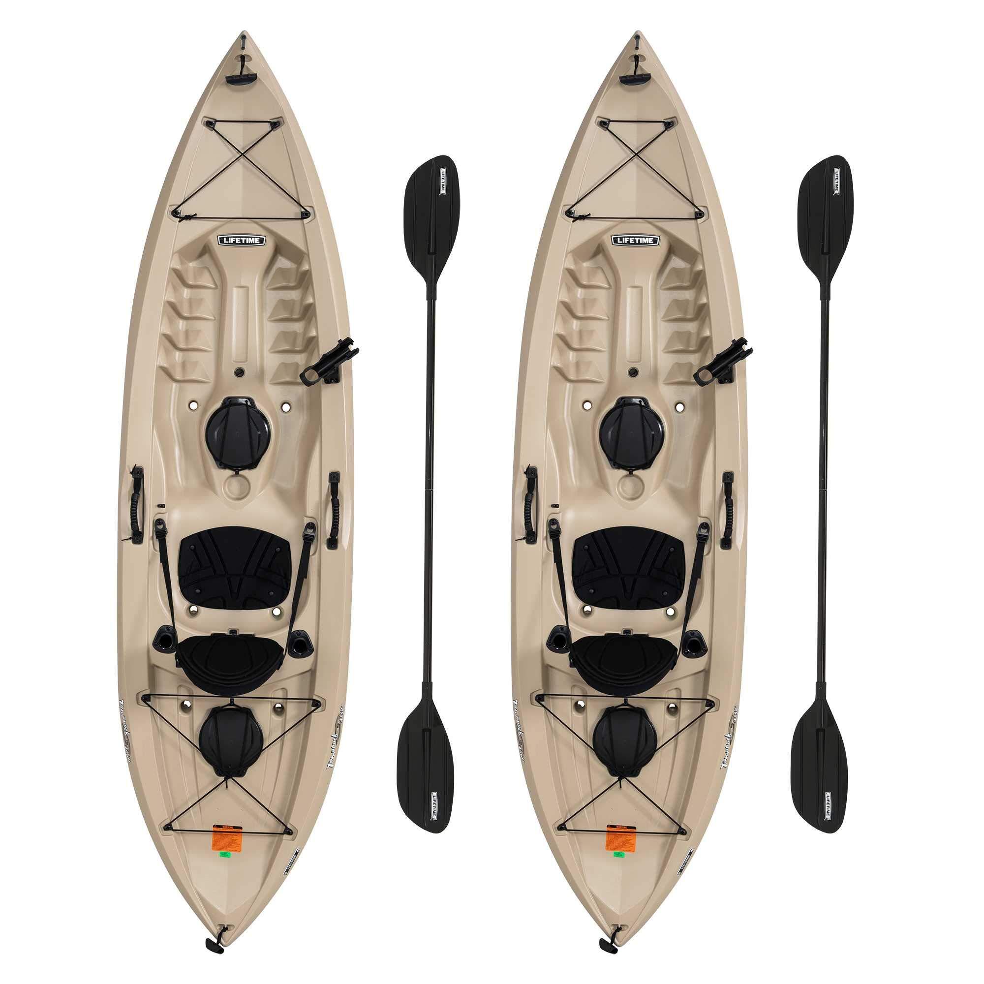 Lifetime 90806 Tamarack Angler 100 Fishing Kayak - 2 Pack (Paddles Included) by Lifetime