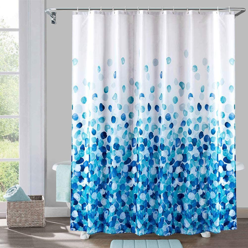 Gray Shower Curtain for Bathroom Waterproof Shower Curtain Set Light Grey Polyester Fabric Bathroom Shower Stall Curtains with 12 Hooks Bathroom Decorative Accessories Standard 72x72 Inches