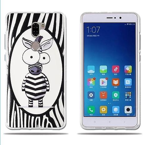 FUBAODA, Funda Xiaomi Mi5S Plus, Simpático Cebra de Dibujos Animados, Carcasa Gel de TPU Silicona, Fino, Elegante y Agradable al Tacto,Carcasas para ...