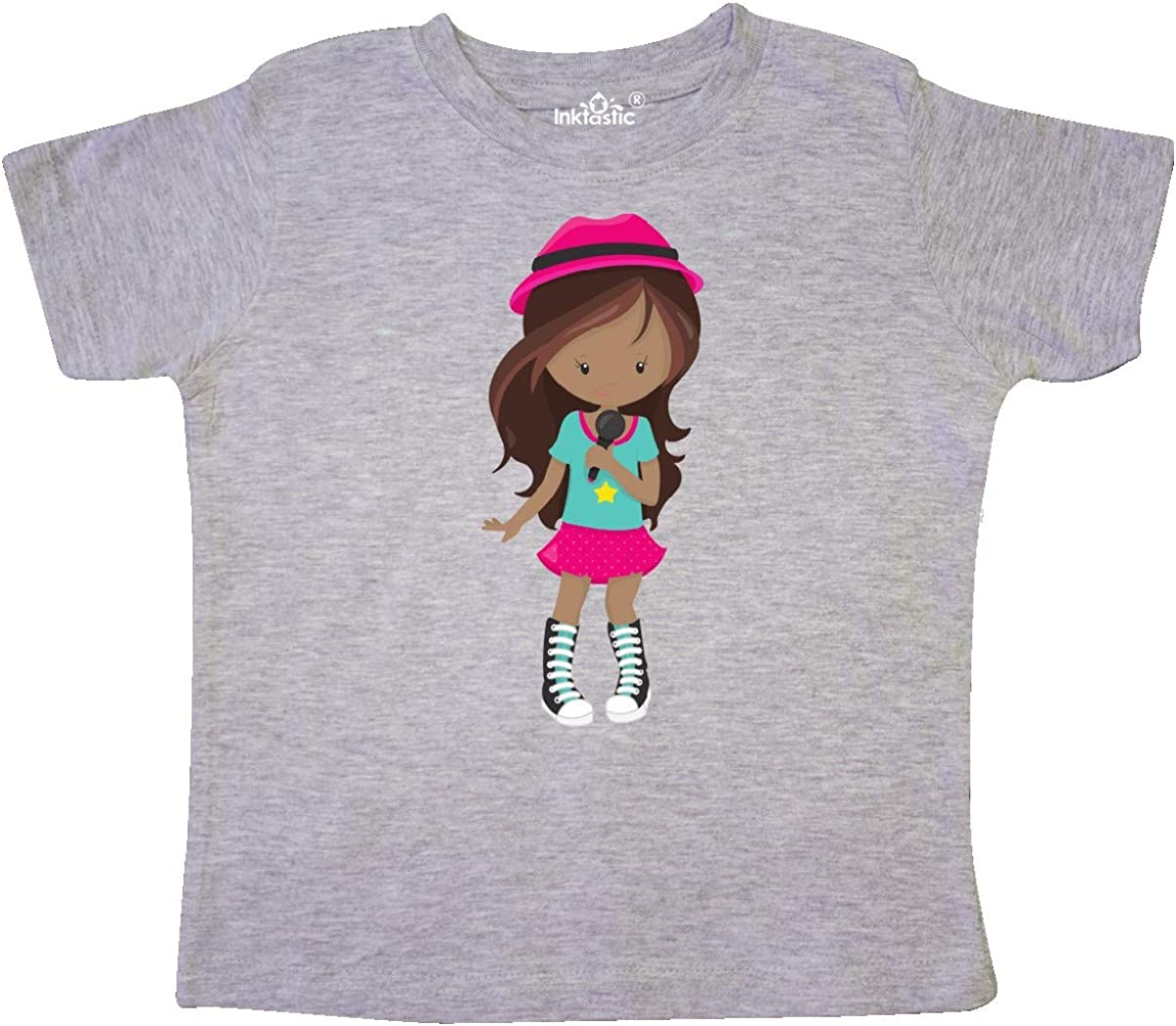 Rock Girl Band Singer Toddler T-Shirt inktastic African American Girl
