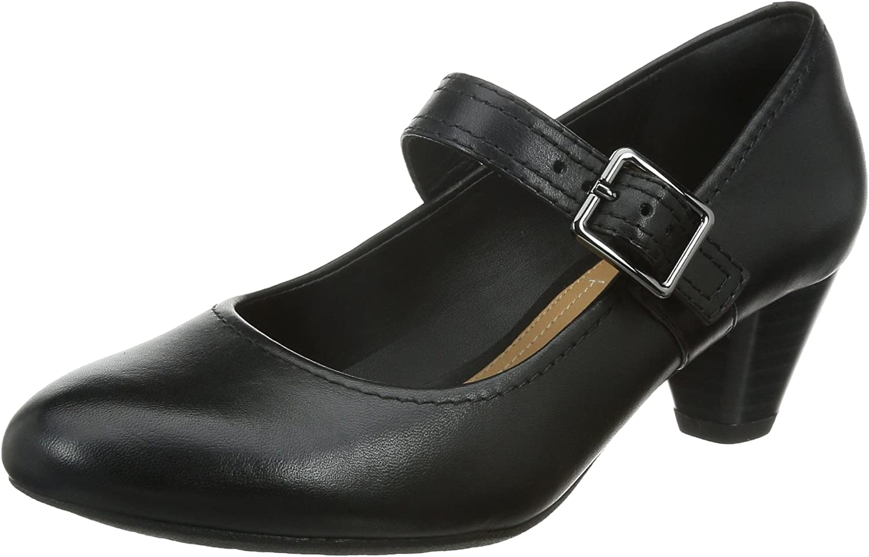 Clarks Ladies Wide Fit Denny Date Black