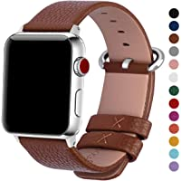 Fullmosa YAN Correa Cuero Compatible Apple Watch/iwatch Series 3, Series 2, Series 1, Apple Watch Correa/Pulsera/Banda 38mm 42mm, Marrón, 42mm
