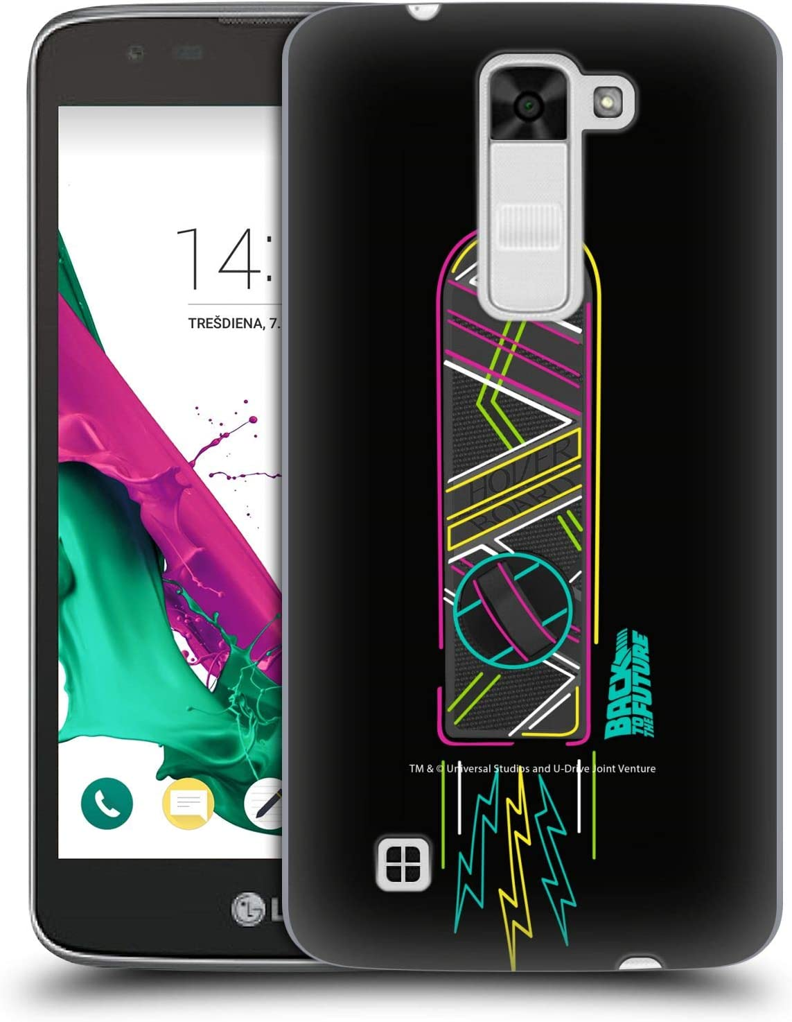 Official Back to The Future Neon I Composed Art Hard Back Case Compatible for LG K7 K330 / Tribute 5: Amazon.es: Electrónica
