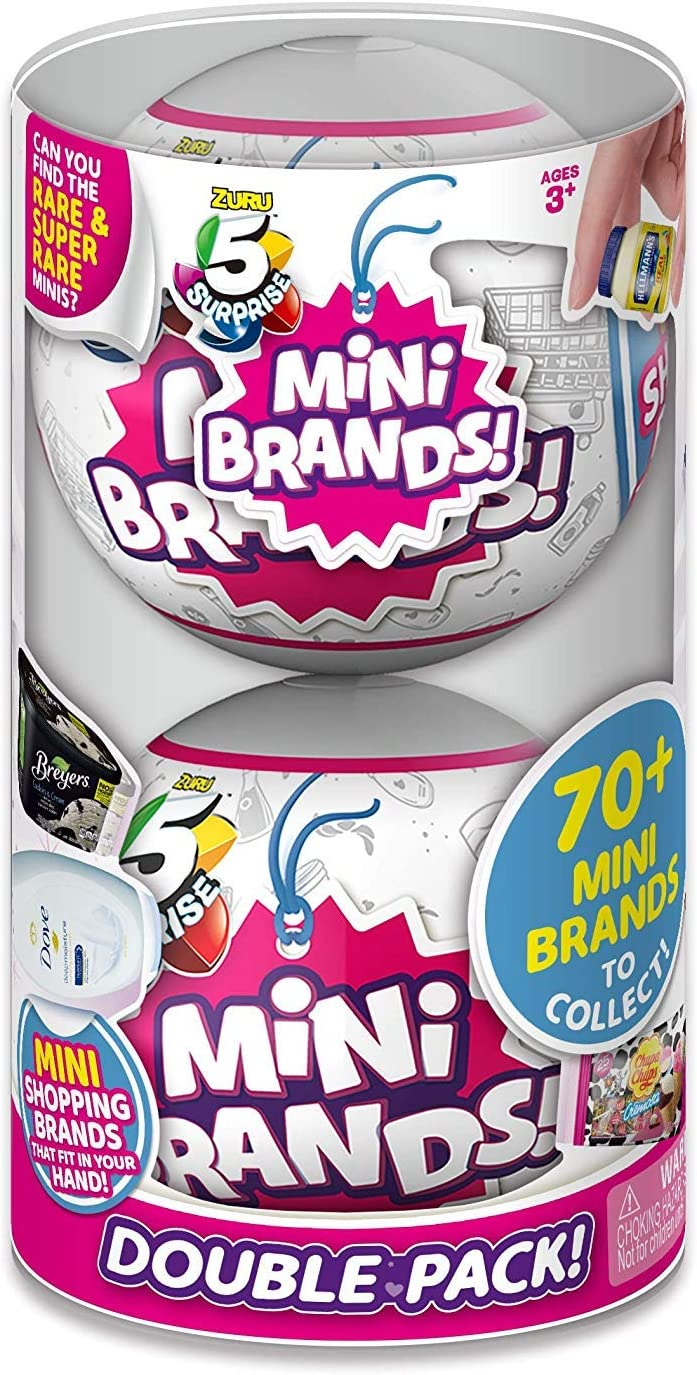 5 SURPRISE Mini Brands Mystery Capsule Real Miniature Brands Collectible Toy (2 Pack)