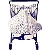 LullaBelay: infant seat + shopping cart strap-system support; multi-use car seat cover (Grey Chevron) by Fiddle Diddles