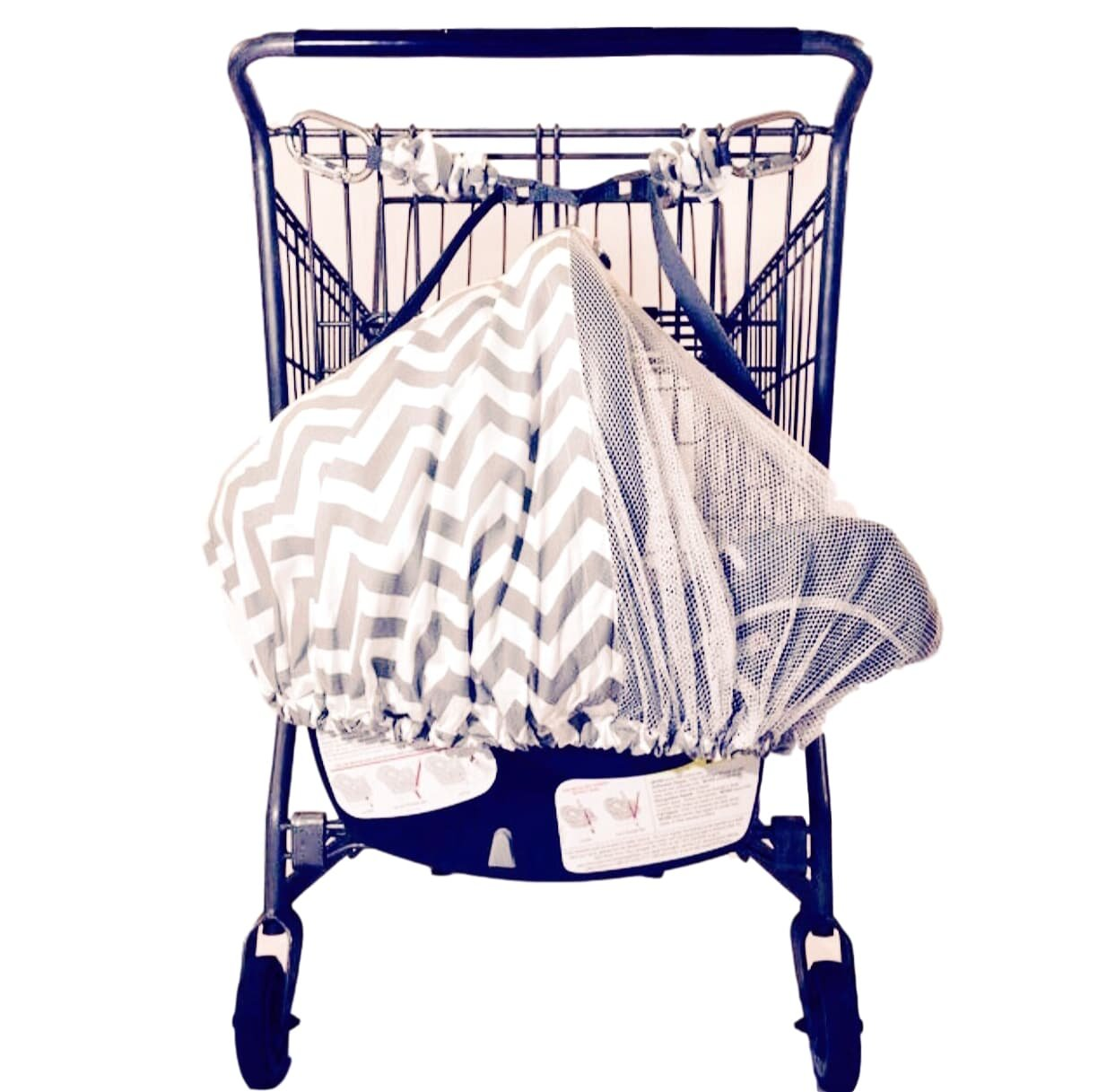 Best rated in baby shopping cart seat covers helpful customer lullabelay infant seat shopping cart strap system support multi use car jeuxipadfo Choice Image
