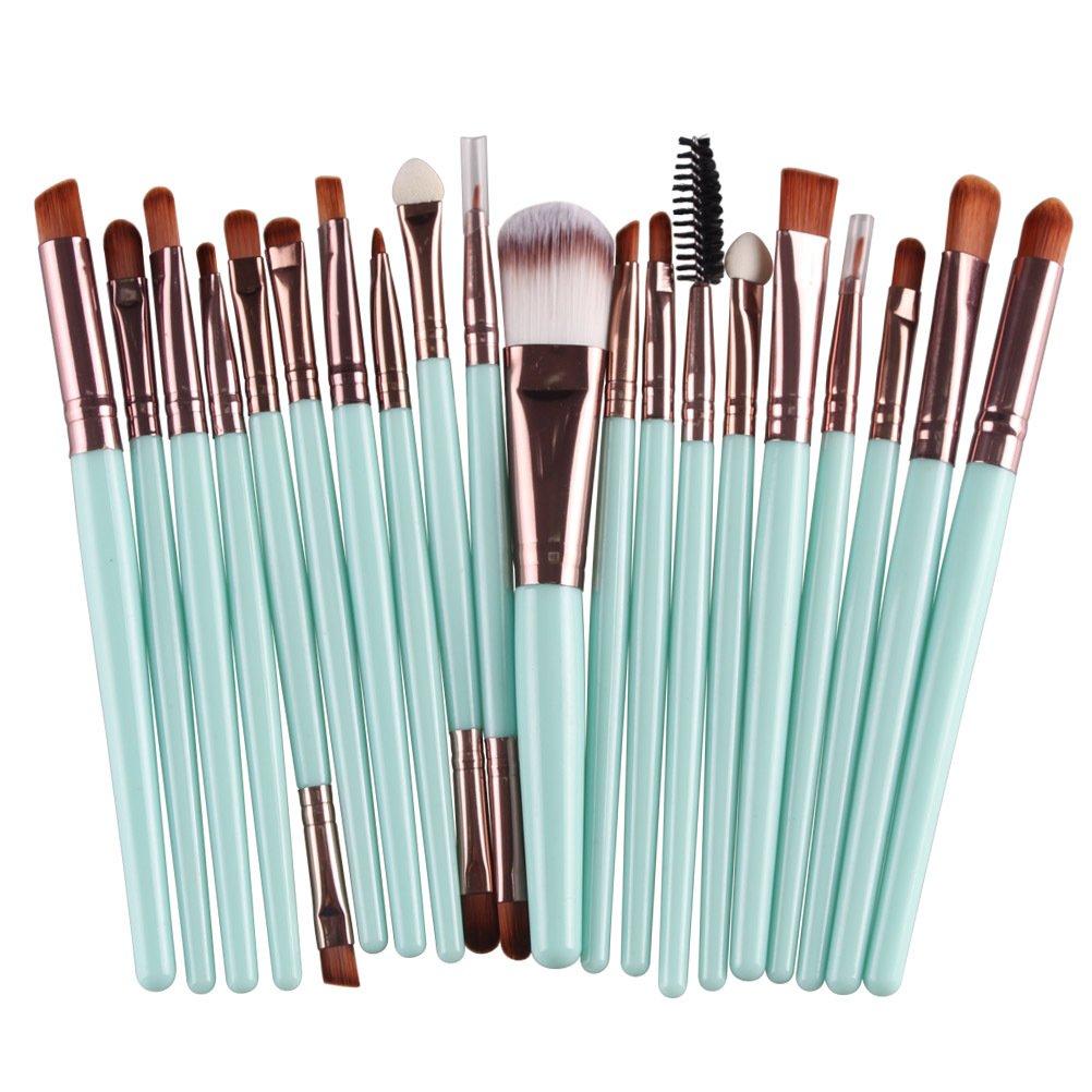 Makeup Brush Set,MAANGE 20 Pieces Professional Eye Makeup Cosmetics Brush Set,Cosmetics Blending Brush Tools (green)