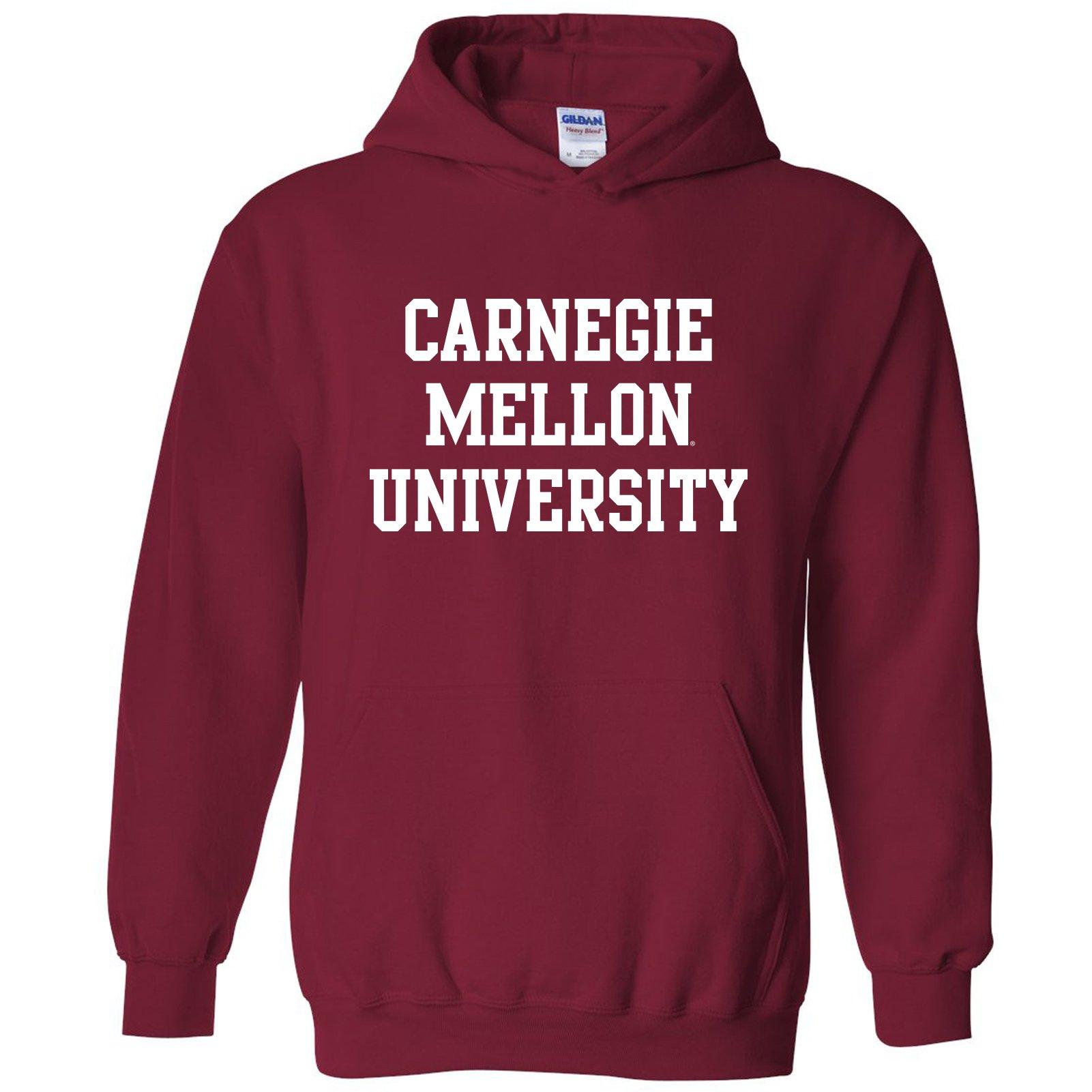 AH01 - Carnegie Mellon Scotties Basic Block Hoodie - Large - Cardinal Red
