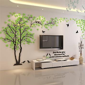 Diy 3d Riesiger Baum Paar Wandtattoos Wandaufkleber Kristall Acryl Malen Wanddeko Wandkunst L Grün Recht
