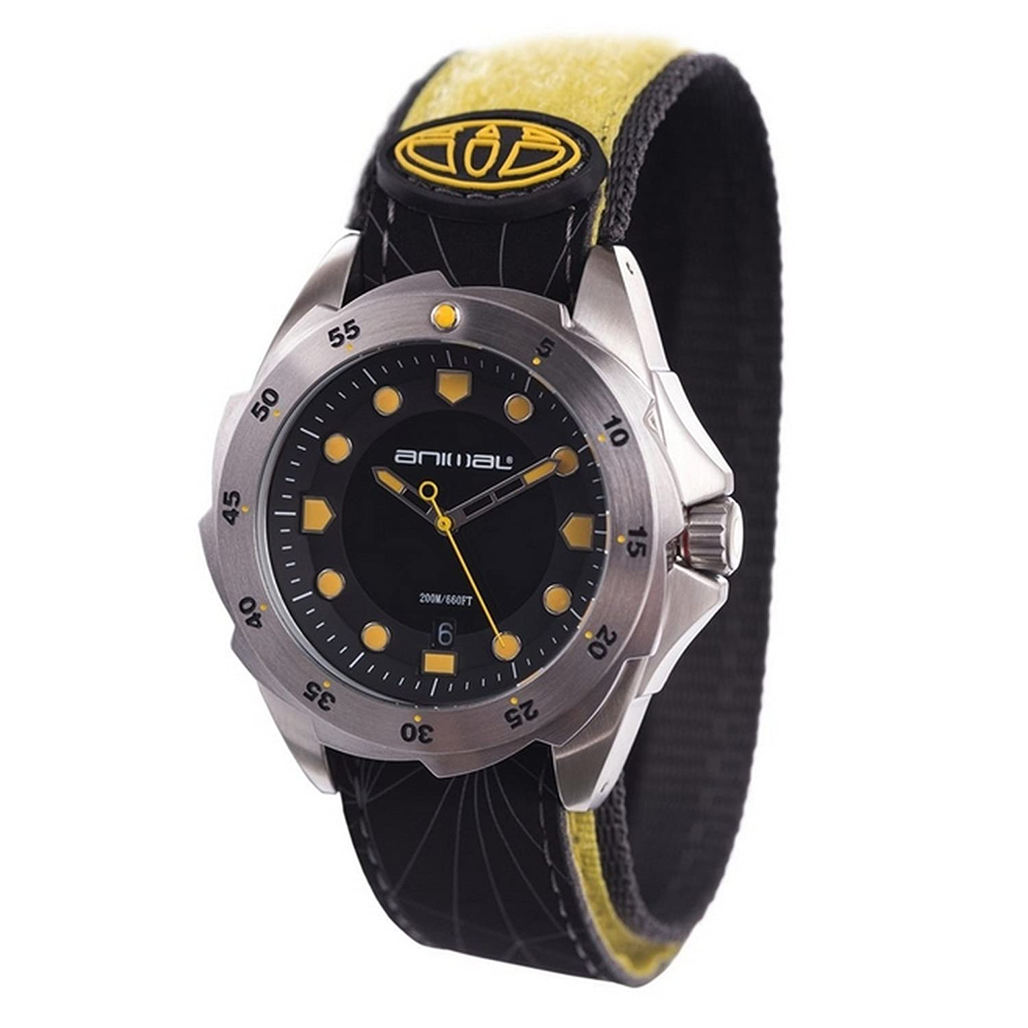 Animal Marine 1 Watch - Black - Yellow