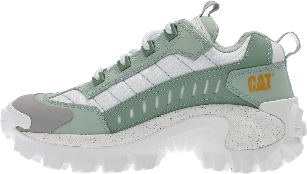 Caterpillar , Baskets pour Femme Blanc Weiß Blanc Vert