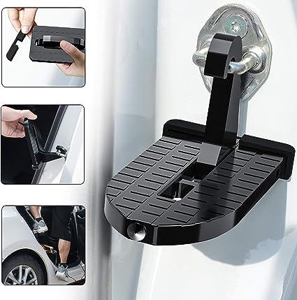 ALFALAH Auto de Puerta de Pedal Pedal de baca, Auto de Plegable de Techo para umbral