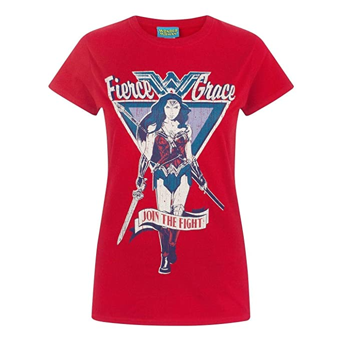 Wonder Woman - Camiseta Modelo Join The Fight para Mujer: Amazon.es: Ropa y accesorios