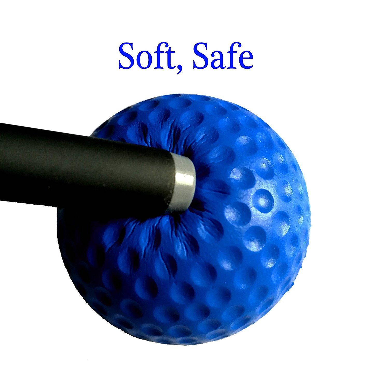 POSMA PB010AUS Golf PU Practice Balls soft balls golf training 24 Count, Blue by POSMA (Image #3)
