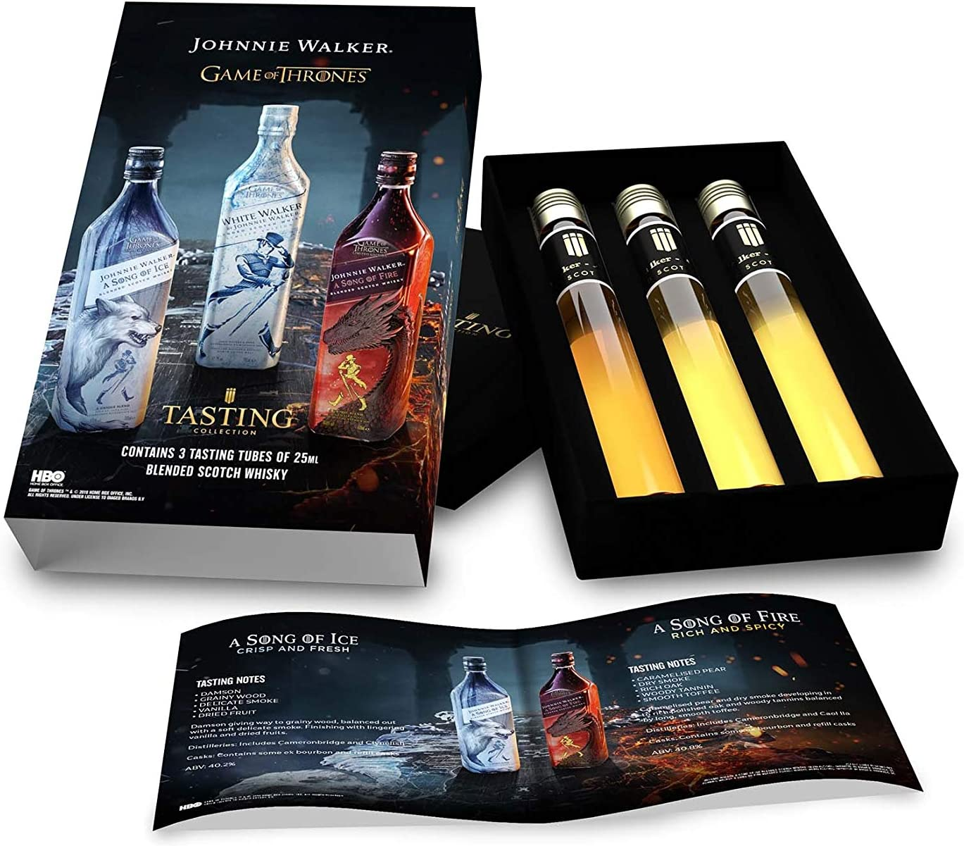 Johnnie Walker - Game Of Thrones 3 x Miniatures Tasting Pack Gift Set - Whisky