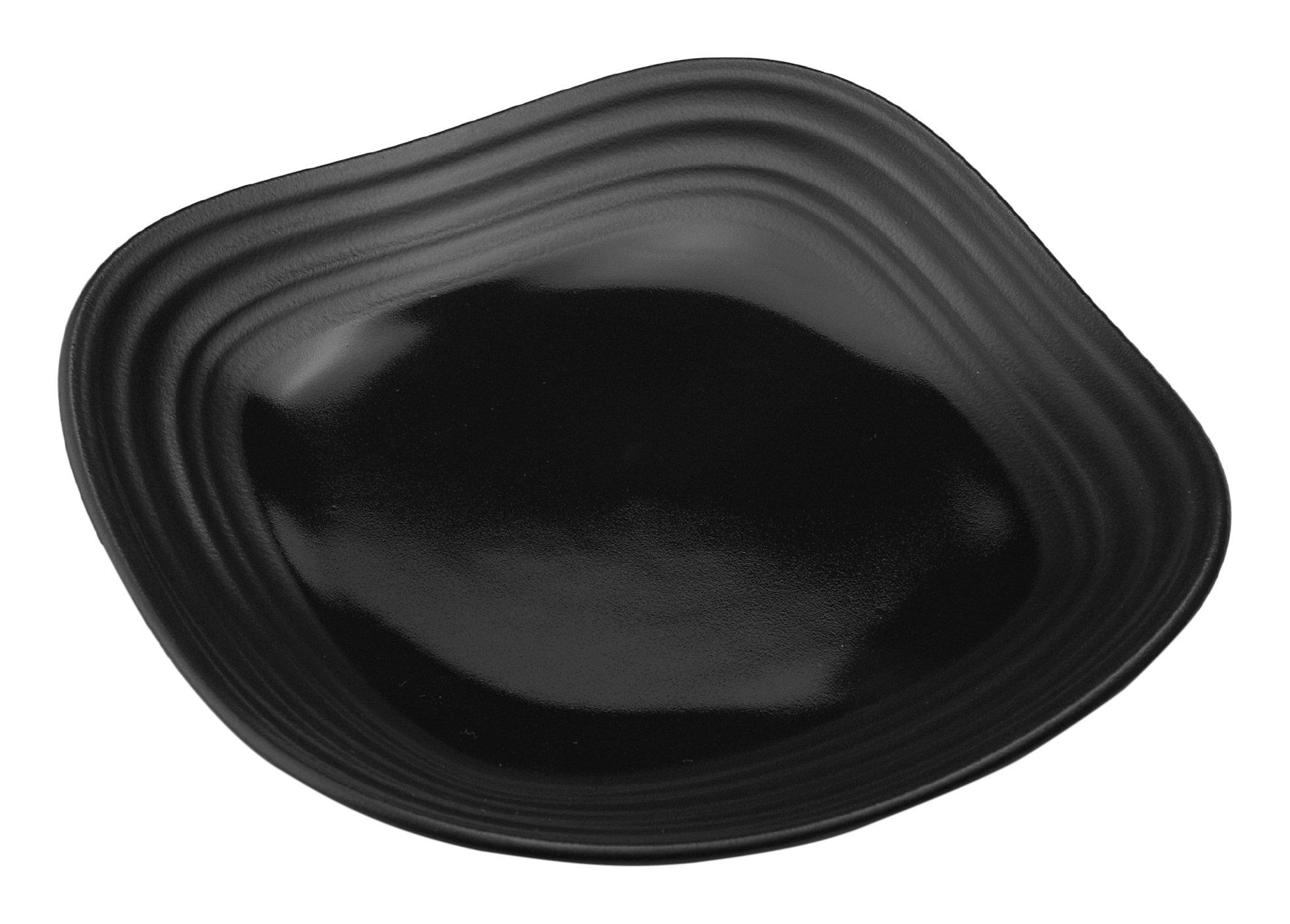 Mikasa Swirl Square Appetizer Plate, 6'', Black