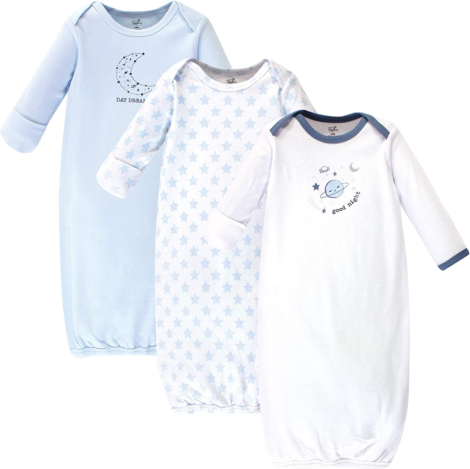 Touched by Nature Baby Girls Organic Cotton Gowns Nightgown