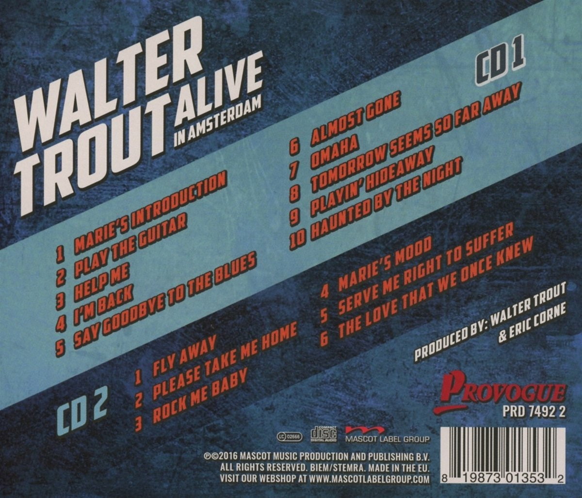 Walter Trout - Alive in Amsterdam 71OwwhufnpL._SL1200_